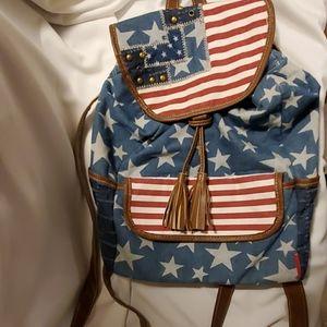 Union Bay Flag Mini Backpack Purse